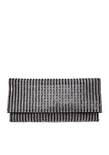 Stripe Crystal Clutch