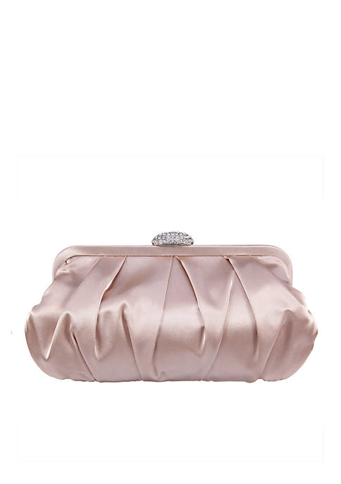 Pleated Frame Clutch
