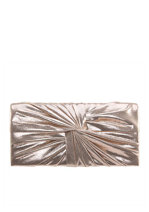 Nina Shiny Knot Clutch