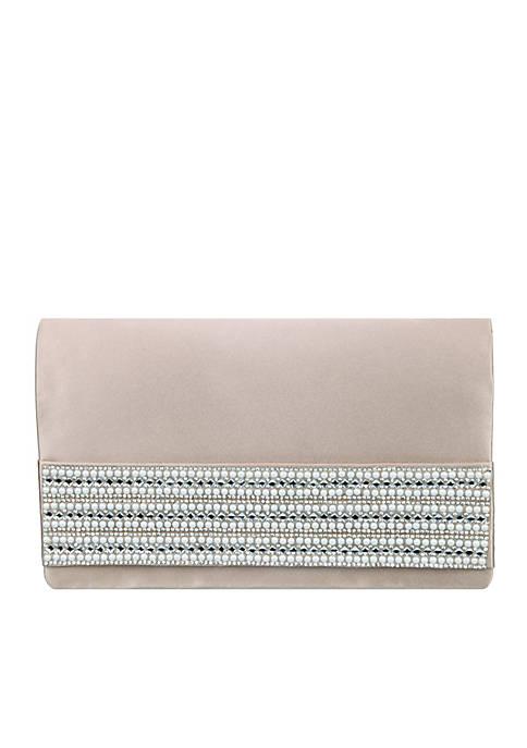 Nina Slip Thru Handle Clutch with Pearls