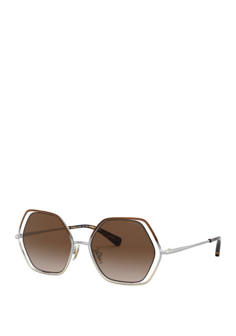 COACH Hexagonal Sunglasses