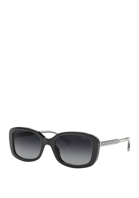 COACH Oversize Polarized Square Sunglasses