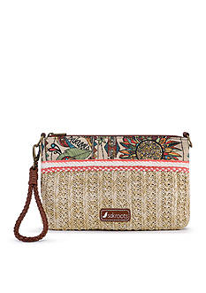 Sakroots Boca Straw Convertible Clutch