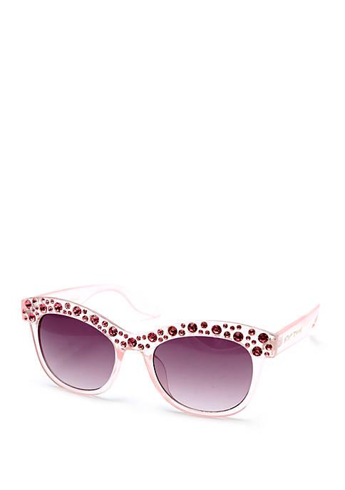 Betsey Johnson Crystal Rhinestone Sunglasses