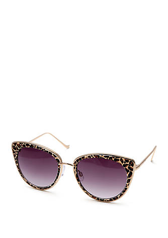 34cca410a17 Betsey Johnson Cat Eye With Metal Trim Sunglasses