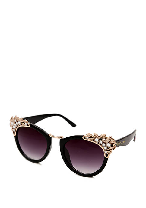 Cat Eye Sunglasses With metal Decor