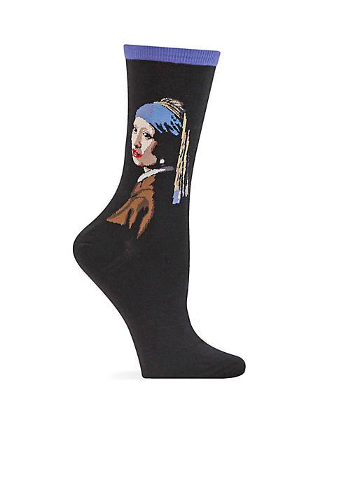 Girl With The Pearl Earring Crew Socks