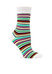 Thin Multi Stripe Trouser Sock