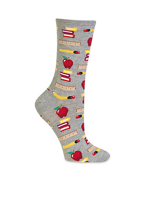 Hot Sox® Women's Teacher's Pet Crew Socks