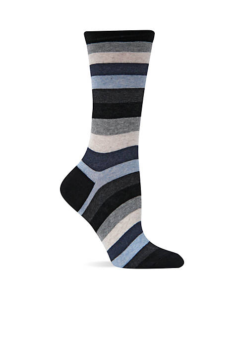 Hot Sox® Bold Stripe Crew Socks