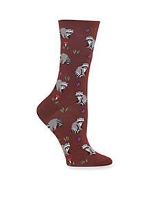 Racoon Crew Socks