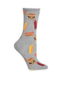 Women's BBQ Food Crew Socks