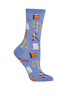 Lawyer Crew Socks