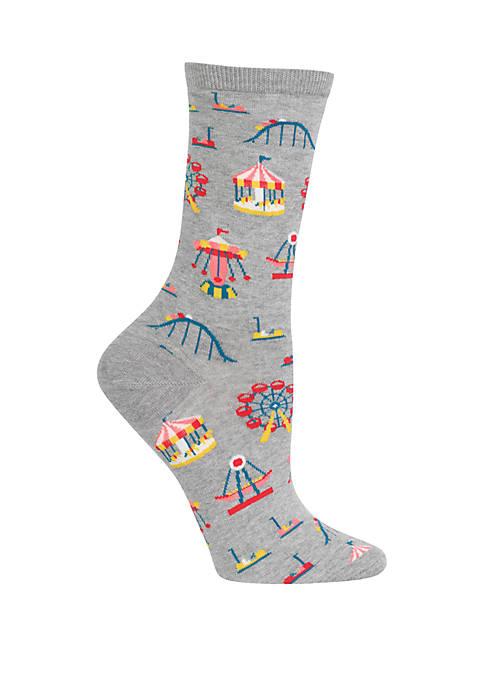 Hot Sox® Womens Carnival Rides Crew Socks