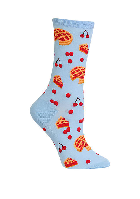 Hot Sox® Cherry Pies Crew Socks