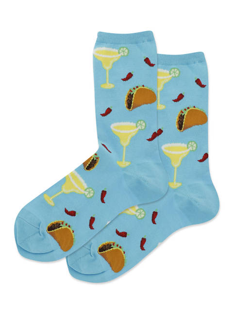 Hot Sox® Margaritas and Tacos Crew Socks