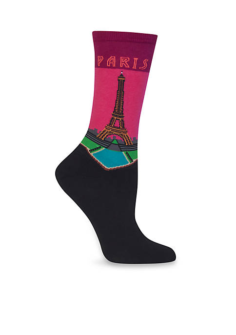 Hot Sox® Paris Crew Socks