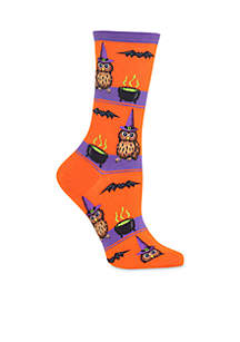 Owl Witch Hat Socks