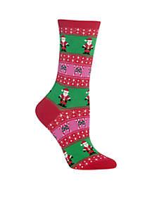 Santa Fair Isle Socks