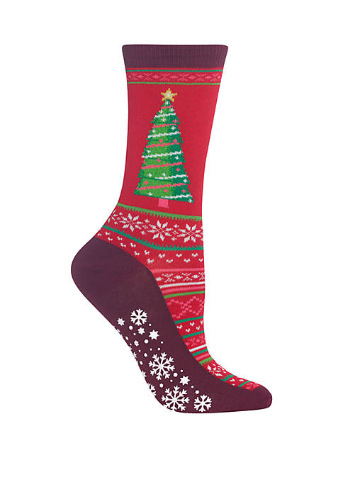 Hot Sox® Christmas Tree Non Skid Socks