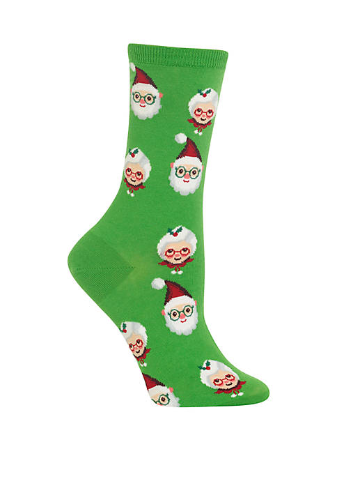 Santa and Mrs Claus Crew Socks
