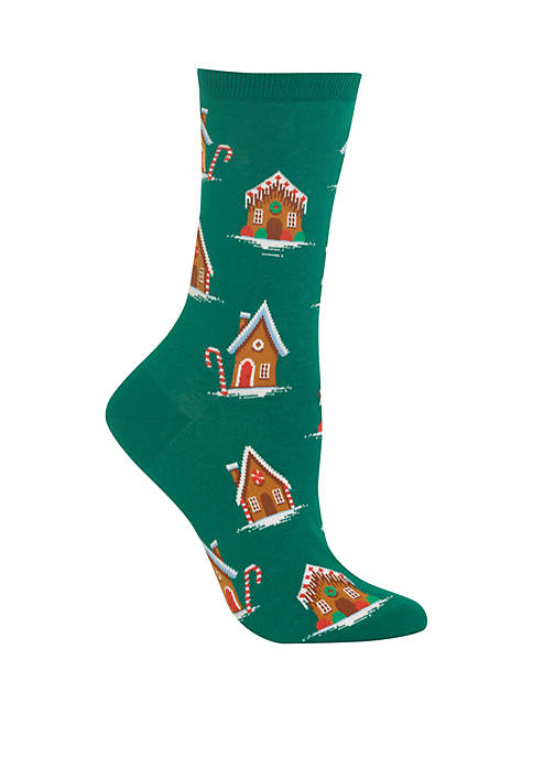 Gingerbread Houses Crew Socks