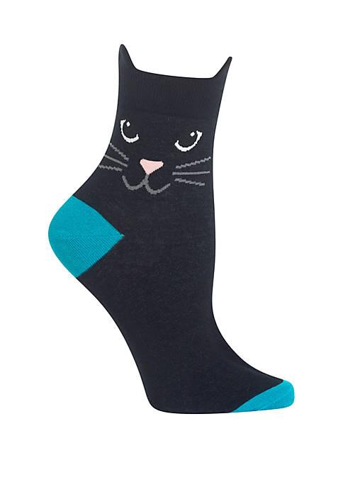 Cat Ears Ankle Quarter Socks