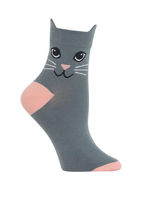 Hot Sox® Cat Ears Ankle Quarter Socks