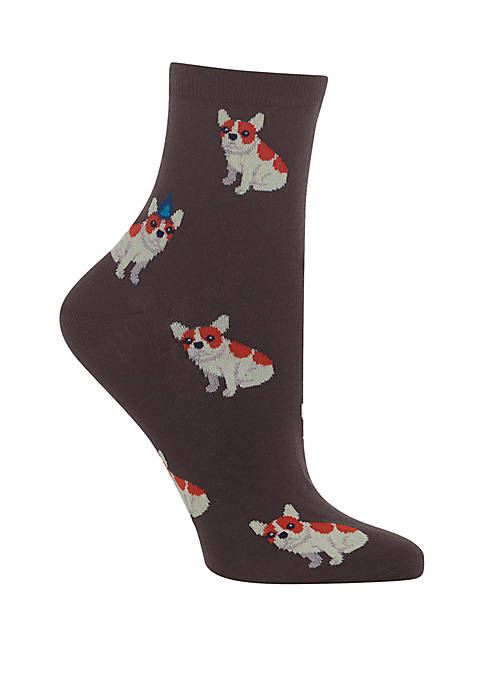 Hot Sox® Birthday Frenchie Ankle Quarter Socks