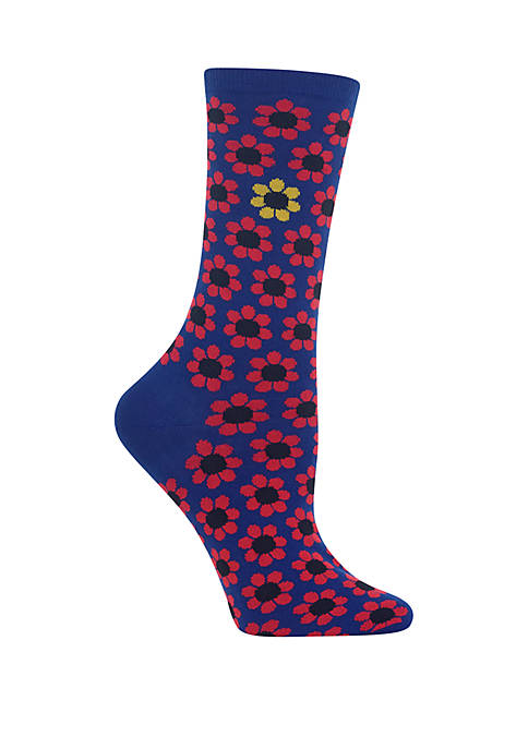 Hot Sox® Daisy Crew Socks