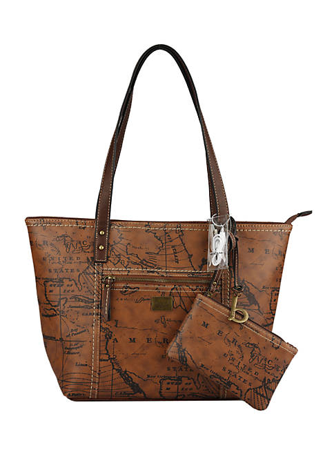 Map Powerbank Tote with Wristlet