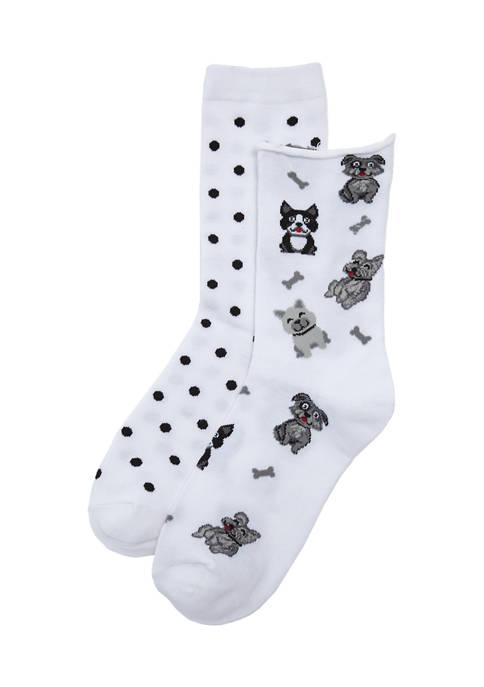 New Directions® 2 Pack Allover Print Socks