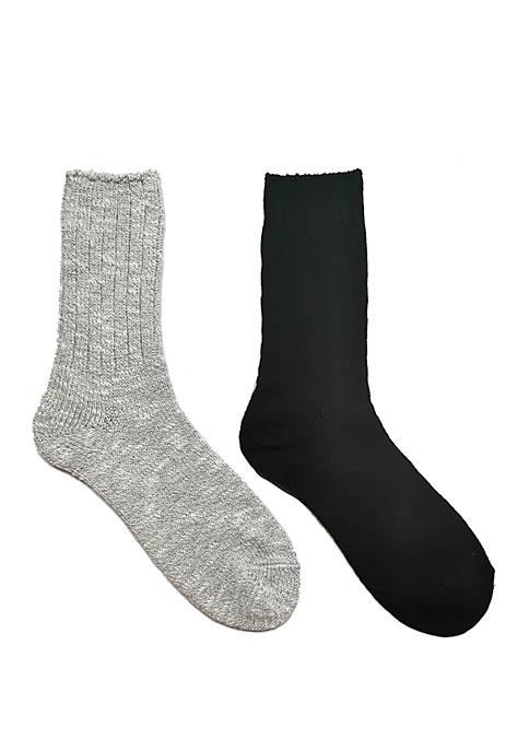 2 Pack Ragg Slub Sweater Yarn Socks