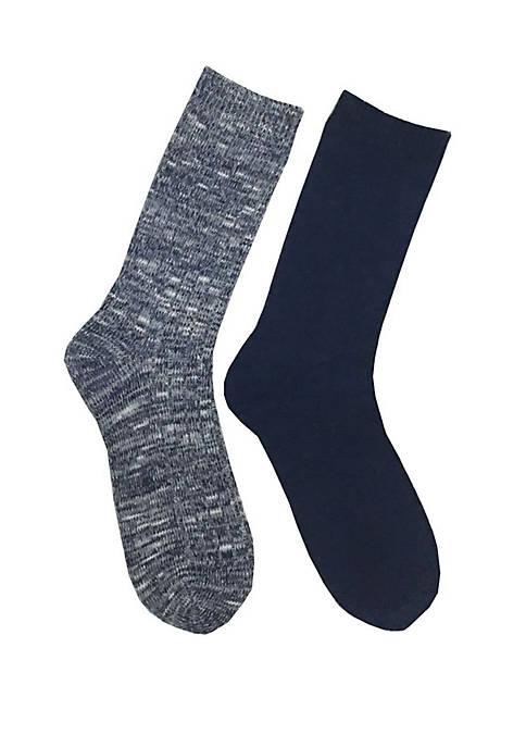 2 Pack Marled Sweater Yarn Socks