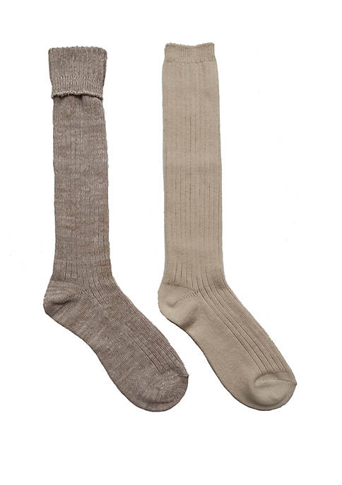 New Directions® 2 Pack Marled Sweater Knit Socks