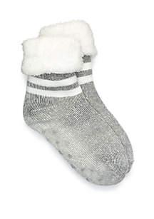 Varsity Stripe Sherpa Lined Slip