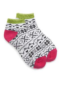 Fairisle Duo-Layer Low Cut Socks