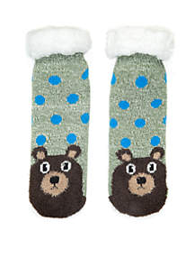 Sherpa Lined Woodland Critters Slipper Socks