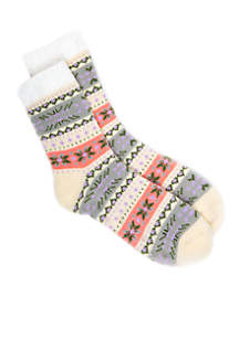 Nordic Love Duo Layer Slipper Socks