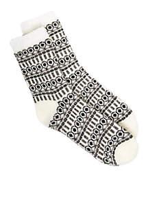 Lurex Duo Layer Slipper Socks