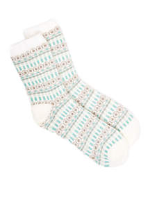 Lurex Duo Layer Slipper Socks
