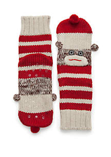 Knit Monkey Slipper Socks