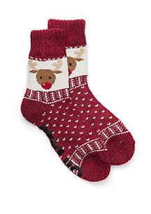 Whimsical Cabin Slipper Socks