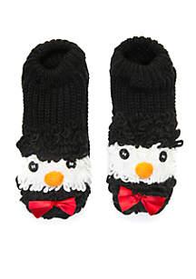 Loopy Yarn Holiday Character Slipper Socks