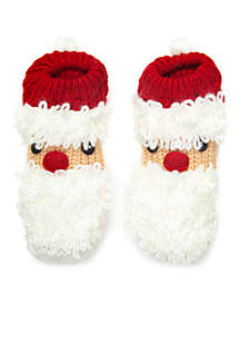 Loopy Yarn Holiday Character Slipper Socks