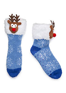 Holiday Head Slipper Socks