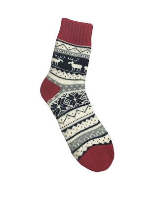 New Directions Nordic Lodge Slipper Socks With Moose Belk