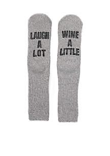 Happy Hour/Hugs/Laugh Slipper Socks