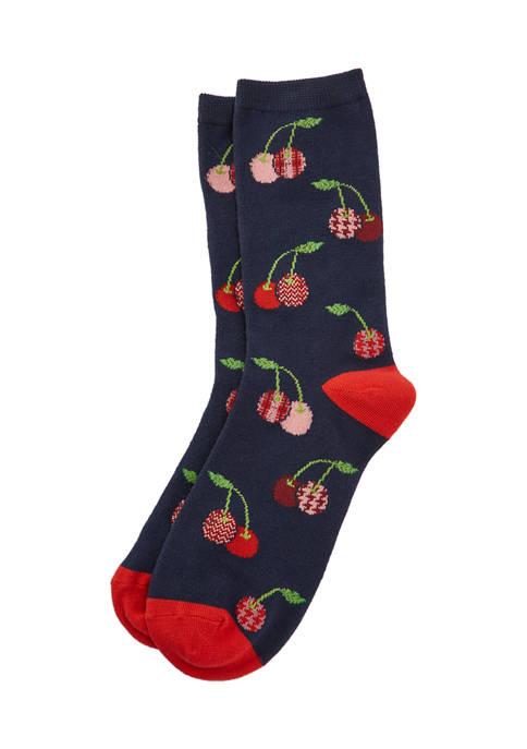 Cherry Crew Socks