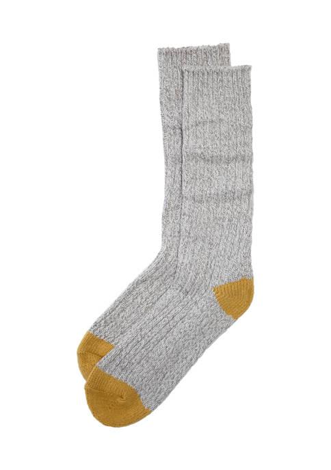 Erica Lyons Super Soft Twist Crew Socks